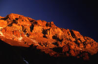 Aconcagua Westface at sunset