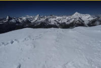 in the distance - Matterhorn, Dent Blanche, Weisshorn